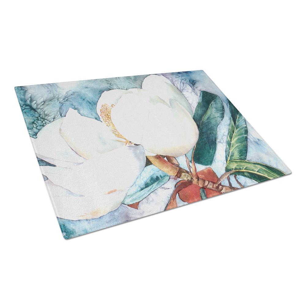 Caroline's Treasures Flower Magnolia Tempered Glass Cutting Board 8001LCB