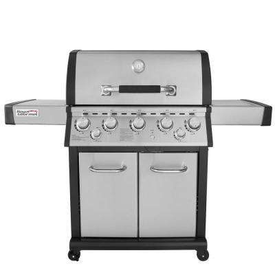 Deluxe 5-Burner Propane Gas Grill with Infrared Rear Burner, Side Burner
