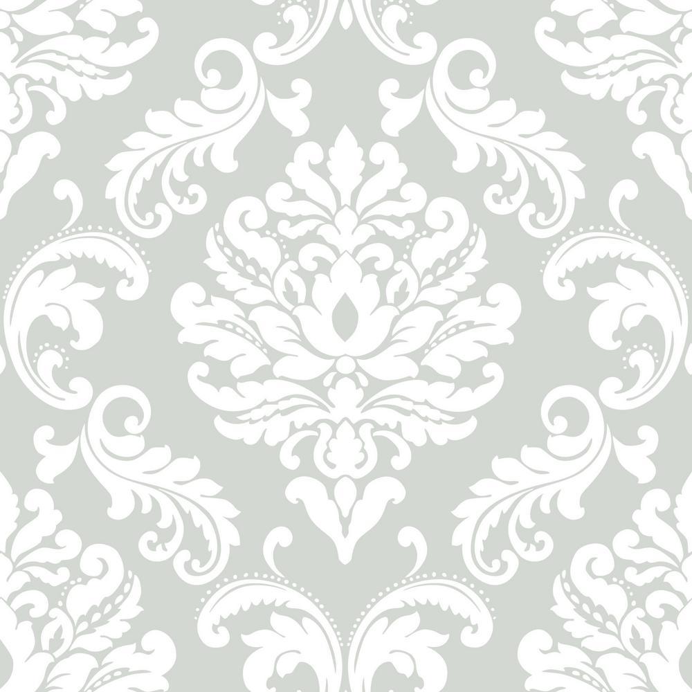 NuWallpaper 30.75 sq. ft. Ariel Grey Peel and Stick Wallpaper NU1935HD2