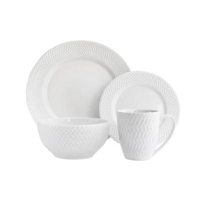 16-Piece White Bridgette Dinnerware Set