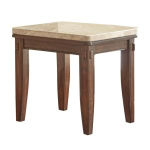 Eileen White Marble Top End Table