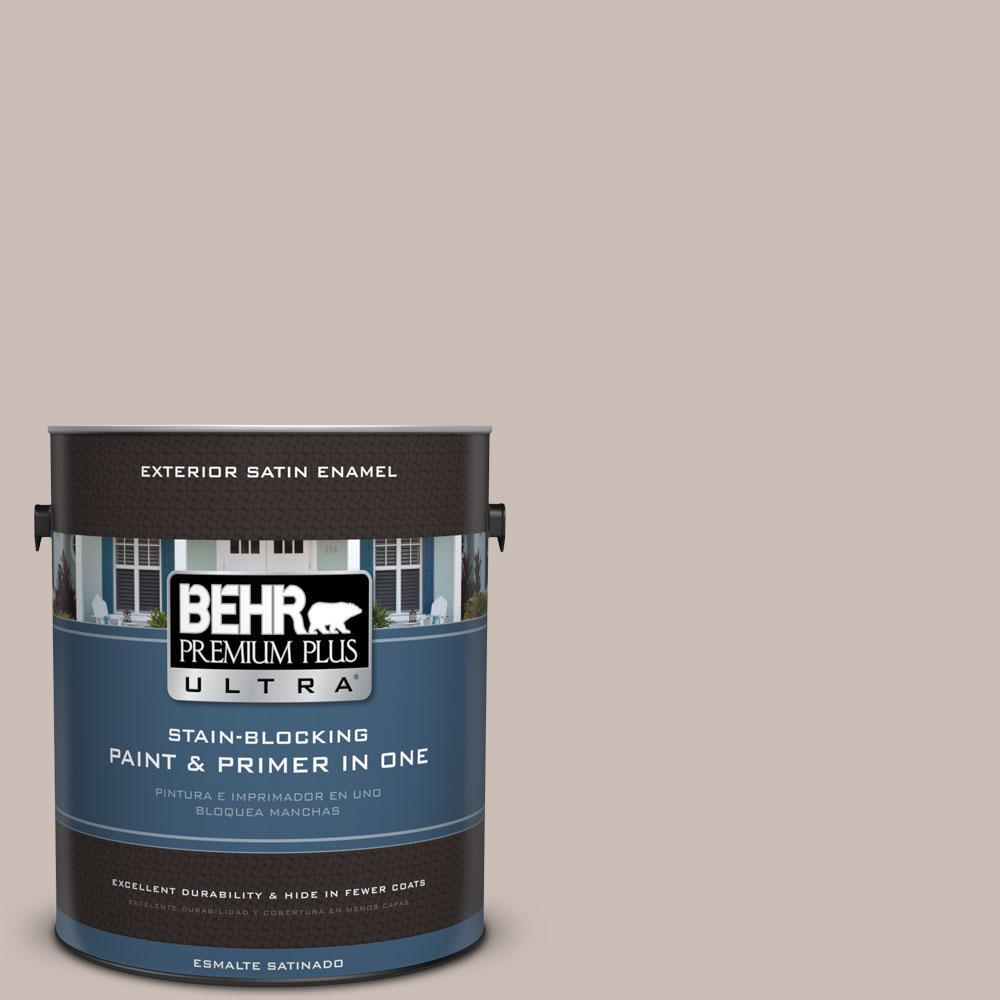 BEHR Premium Plus Ultra 1-gal. #N180-3 Race Track Satin Enamel Exterior Paint