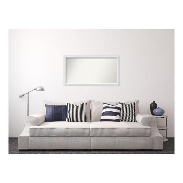 Amanti Art 26 in. x 48 in. Blanco White Wood Framed