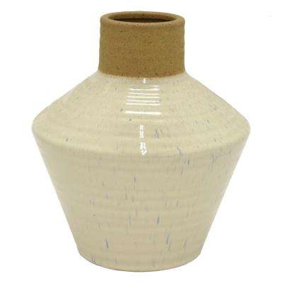12 in. Gray Ceramic Decorative Vase
