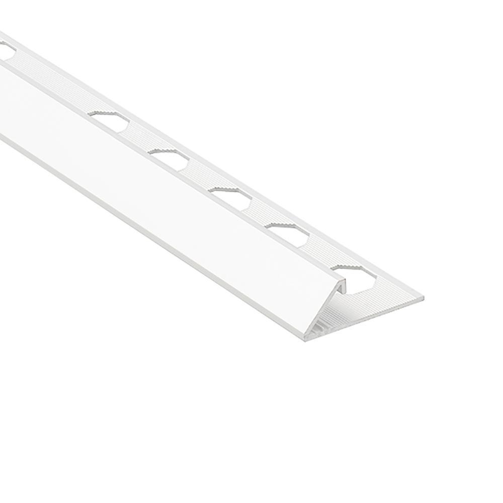 Emac Novobisel White 3/8 in. x 98-1/2 in. Aluminum Tile Edging Trim