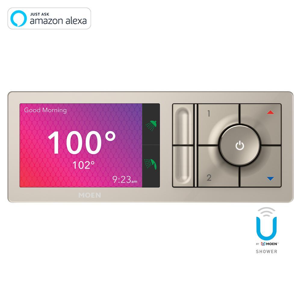 U by MOEN 2-Outlet Digital Shower Controller in Terra Beige