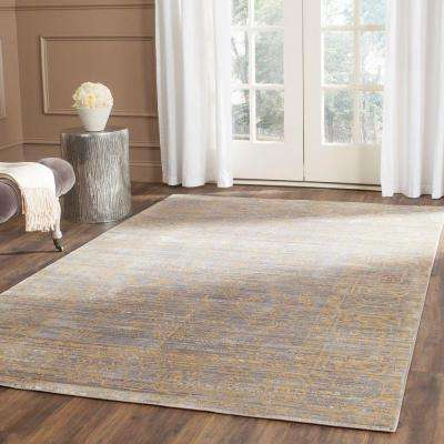 Valencia Grey/Gold 6 ft. x 9 ft. Area Rug
