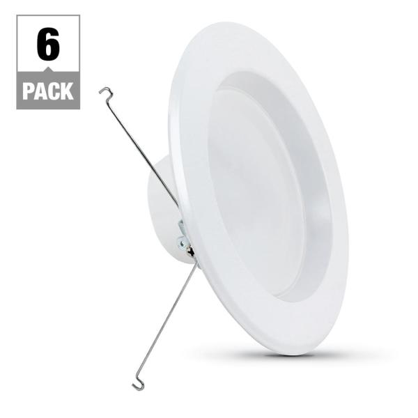 5 in. or 6 in. 5000K Daylight Integrated LED Recessed Retrofit Downlight Trim (6-Pack)