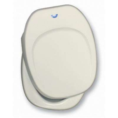 Seat and Cover Assembly For Permanent Aqua Magic IV RV Toilet - Ivory
