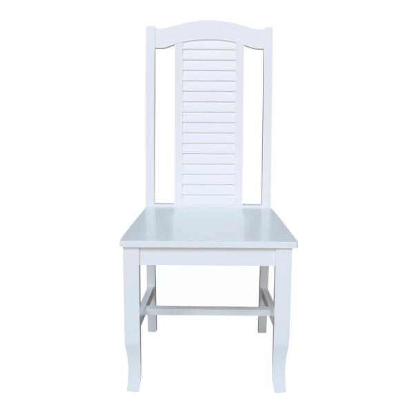 Seaside White Solid Wood Chair (set of 2)