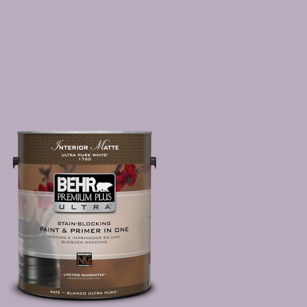 1 gal. #HDC-SP14-12 Exclusive Violet Matte Interior Paint