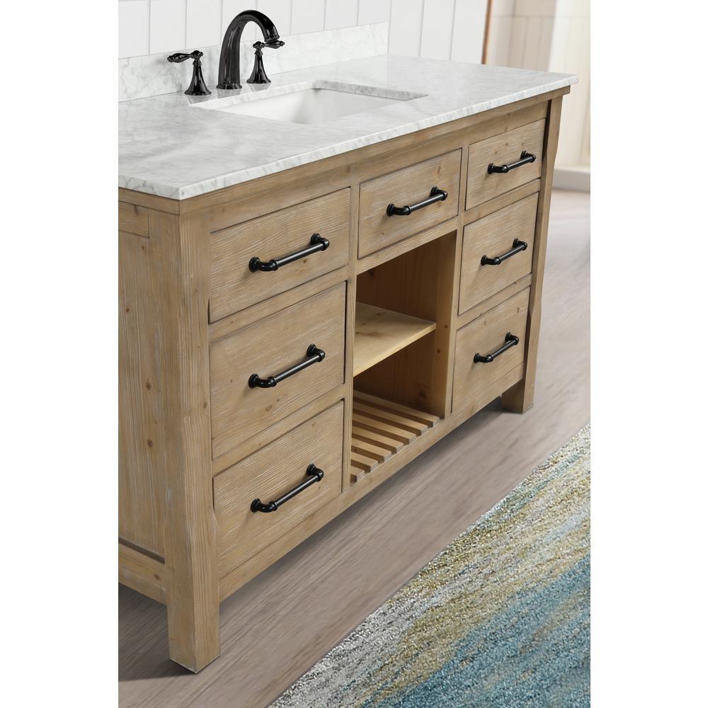 55 Inch Bathroom Vanity Single Sink White Artcomcrea