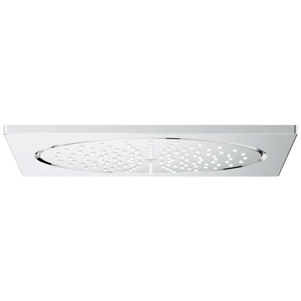 GROHE Rainshower F-Series 1-Spray 10 in. Ceiling Fixed Showerhead Flush Mount in Starlight Chrome
