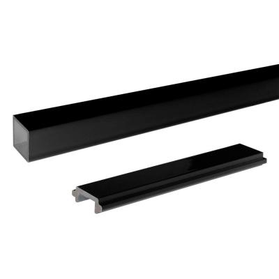 4 ft. Black Aluminum Picket and Spacer