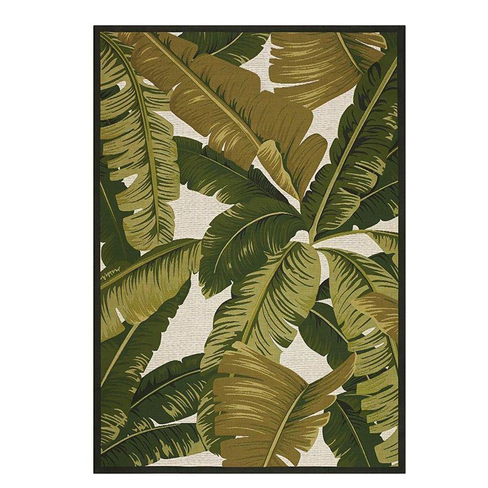 Home Decorators Collection Pindo Ivory/Green 5 ft. x 8 ft. Indoor/Outdoor Area Rug