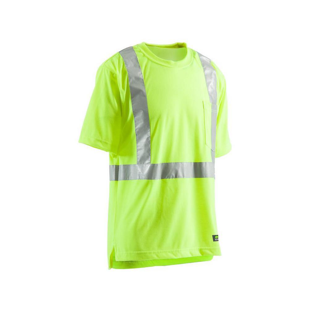 e10dad3daf99 Men's 4 XL Tall Yellow 100% Polyester Hi-Vis Type R Class 2 Pocket T-Shirt