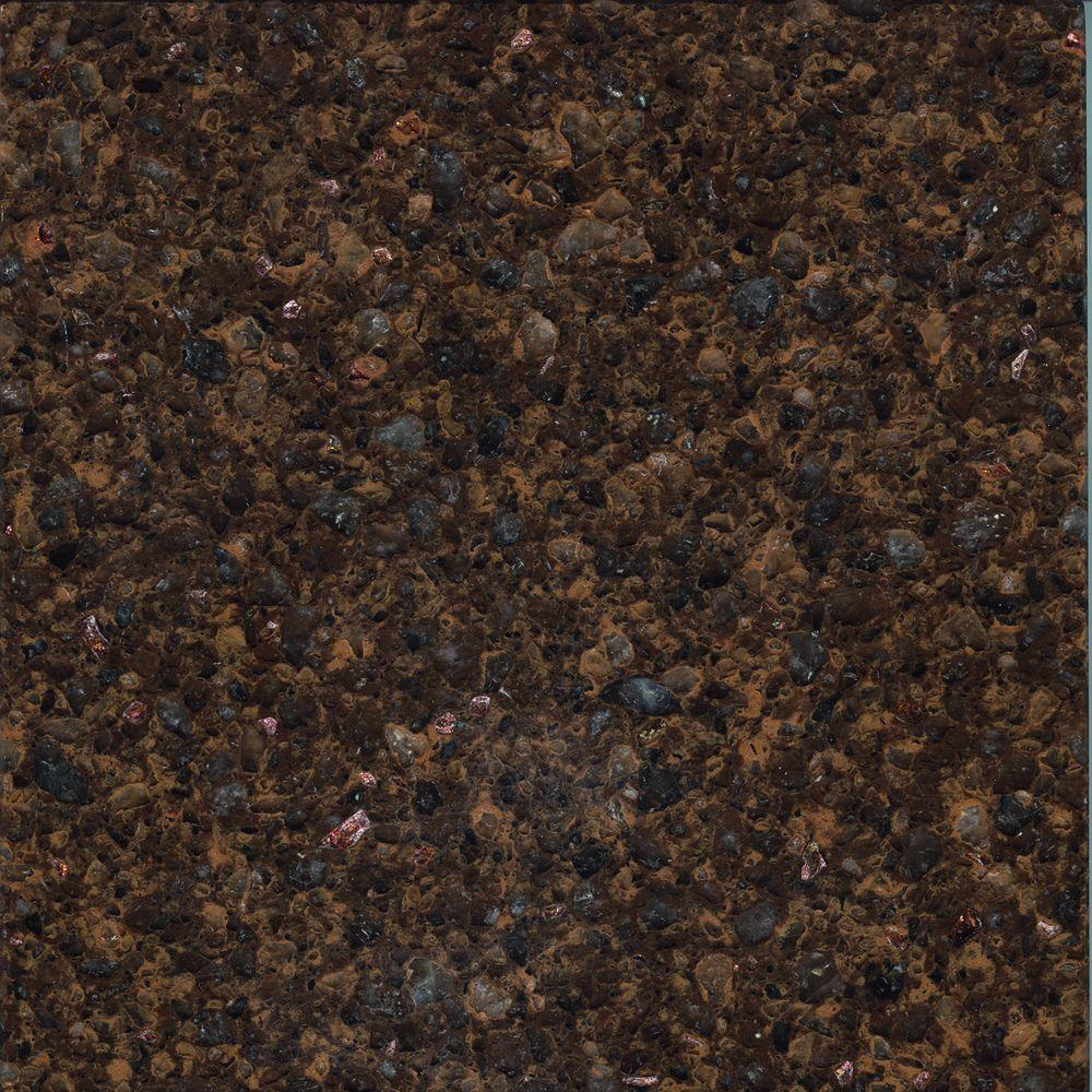 LG Hausys Viatera 3 In. X 3 In. Quartz Countertop Sample In Bourbon