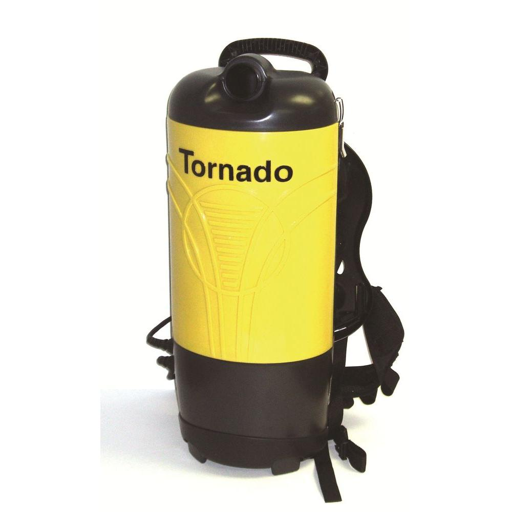 Tornado Pac-Vac Backpack Vacuum Cleaner, Yellows/Golds Providing a faster and more cost-effective alternative to traditional upright vacuums, Tornado's PV 6 and 10 Pac-Vac backpack vacuums are the most powerful, easy-to-use and quiet backpack vacuums you'll ever use. Designed for superior operator comfort and increased productivity, these super-quiet units eliminate the need to bend over as required with traditional upright vacuums. Not only do workers expend less effort doing their jobs, getting in and out of tight or confined spaces becomes a breeze. As a result, cleaning productivity dramatically increases to over 7,000 sq. ft. per hour. Color: Yellows / Golds.