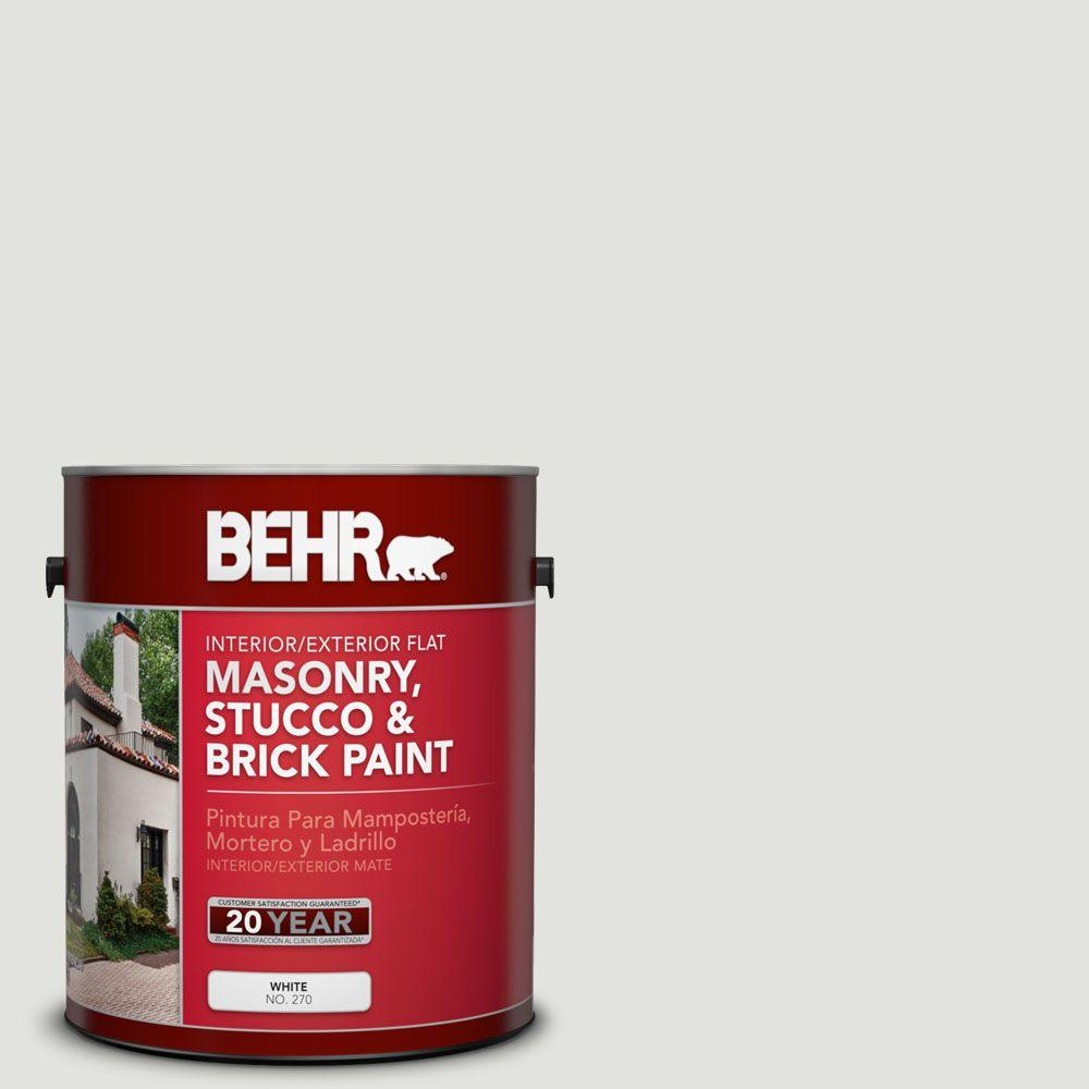 1-gal. #MS-55 Arctic Gray Flat Interior/Exterior Masonry, Stucco and Brick Paint