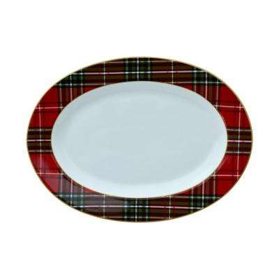 Wexford Plaid Oval Serving Platter