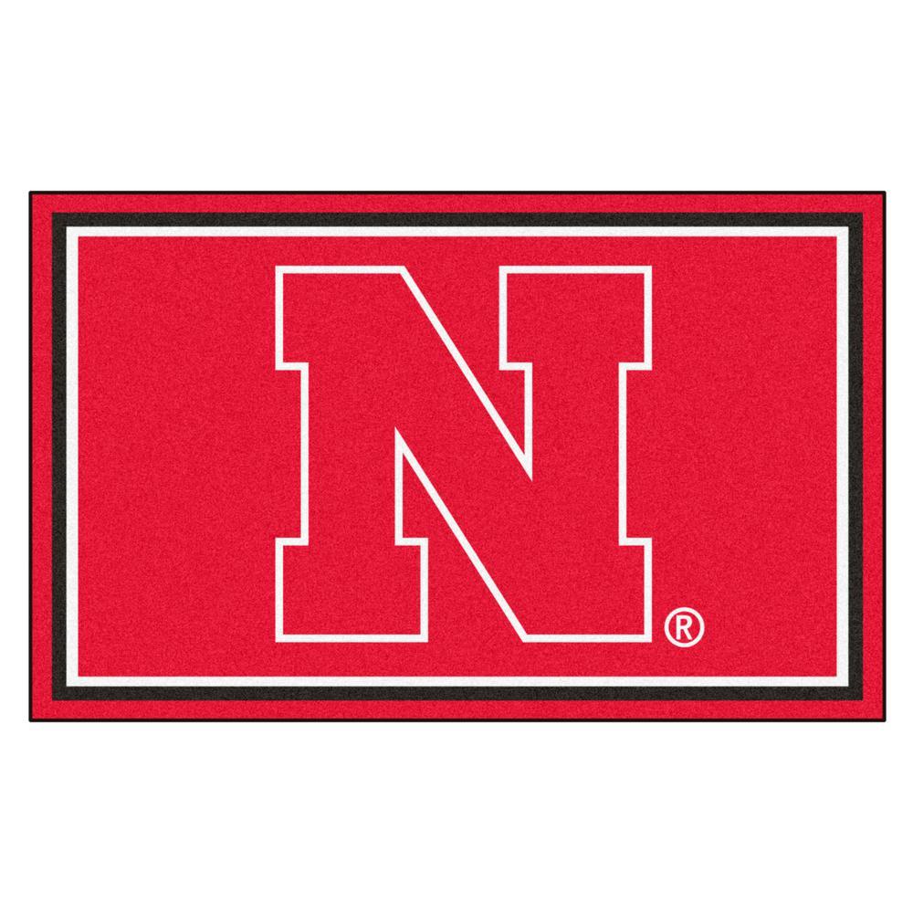 Fanmats University Of Nebraska 4 Ft X 6 Ft Area Rug 6652