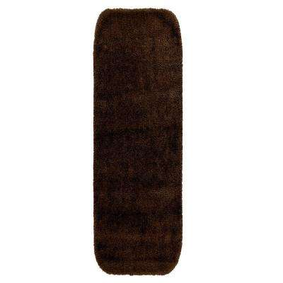 Traditional Chocolate 22 In. X 60 In. Washable Bathroom Accent Rug