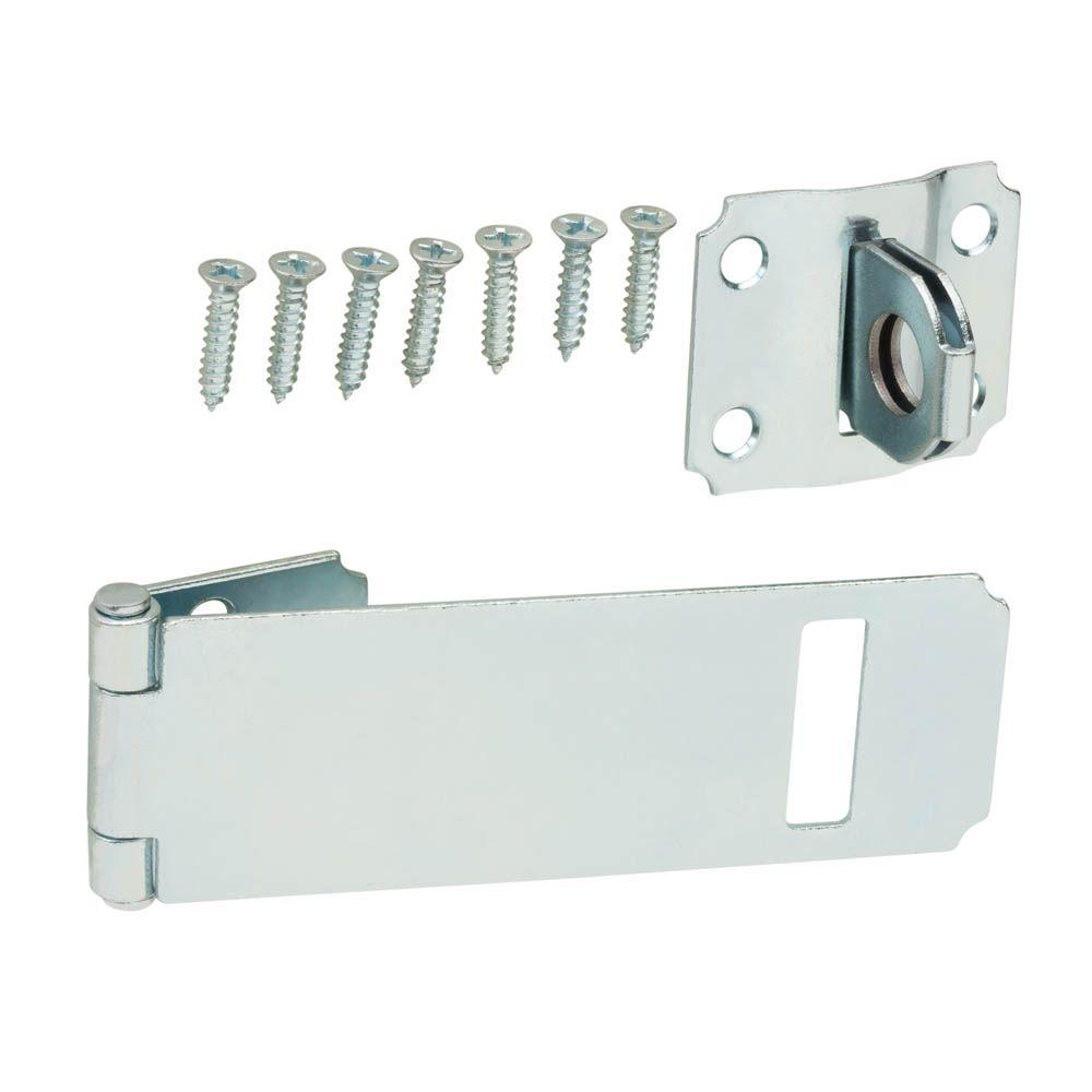 Zinc-Plated Adjustable Staple Safety Hasp  sc 1 st  Home Depot & Hasps - Door Accessories - The Home Depot