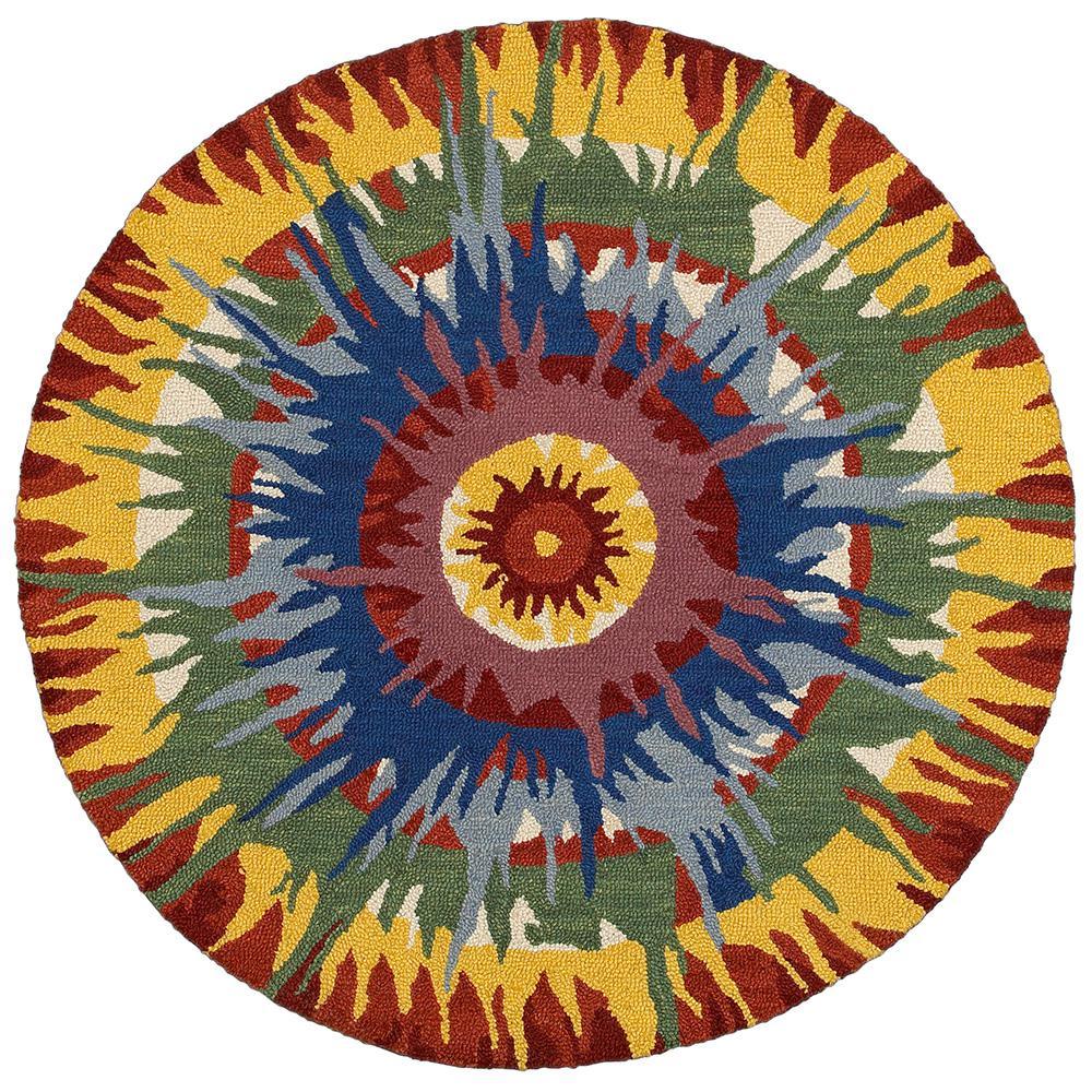 Dazzle Bright 6 ft. x 6 ft. Indoor Round Area Rug