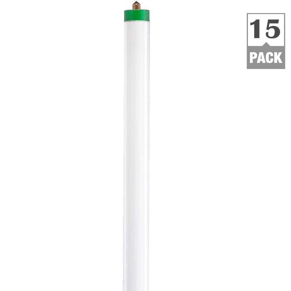 Philips 59-Watt 8 ft. ALTO Plus Linear T8 Fluorescent Light Bulb, Cool White (4100K) (15-Pack)