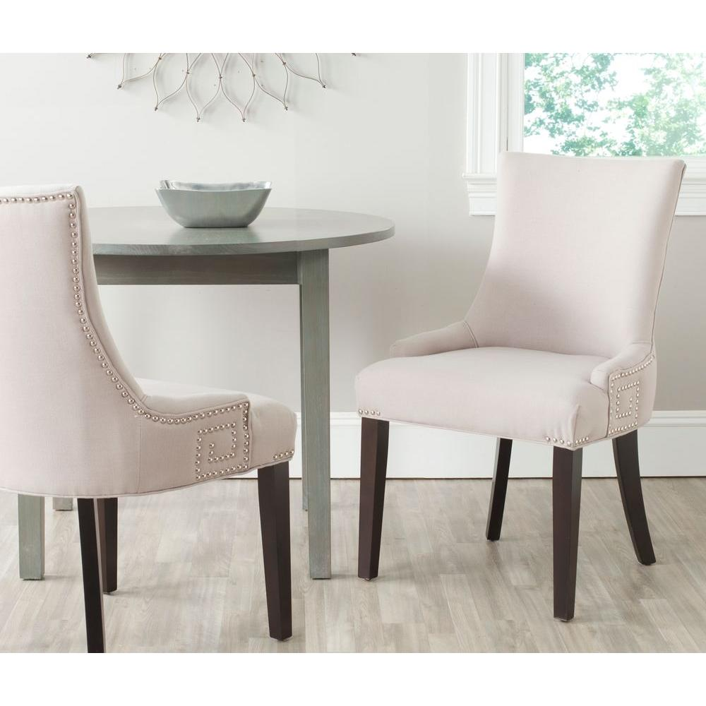 Gretchen Taupe Linen Side Chair (Set Of 2)