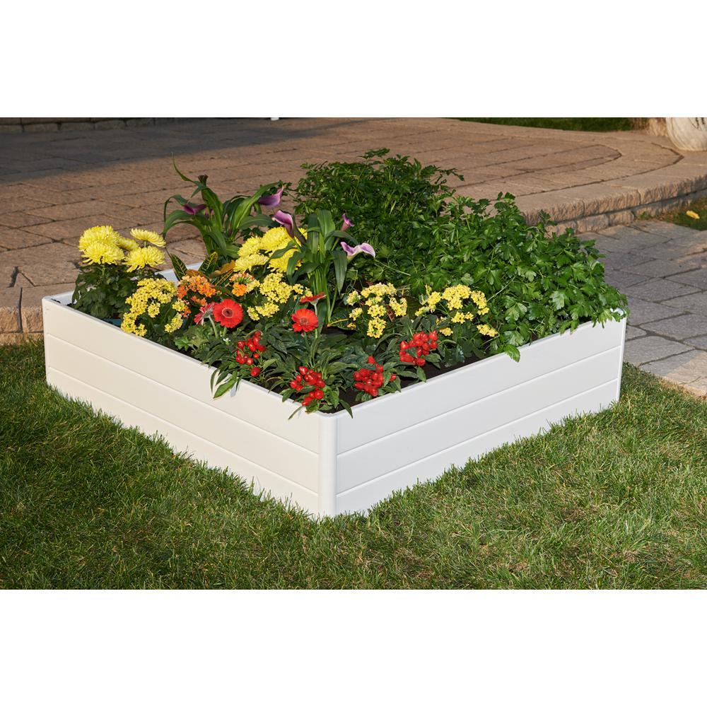 """Raised Garden Bed White 44.5"""" x 44.5"""" x 11.5"""""""