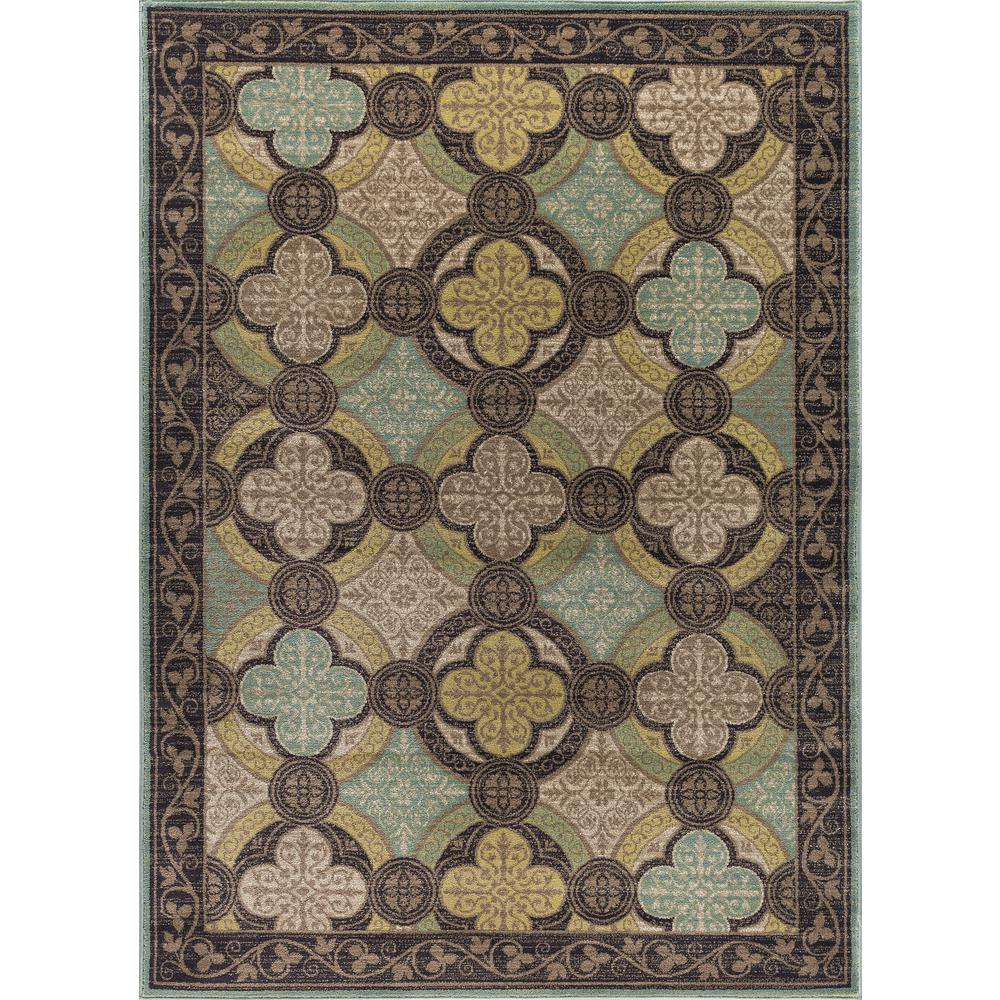 tayse rugs capri brown 5 ft 3 in x 7 ft 3 in transitional area rug cpr1005 5x8 the home depot. Black Bedroom Furniture Sets. Home Design Ideas