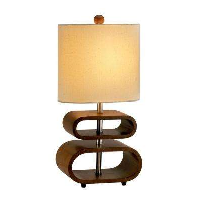 Rhythm 19.5 in. Walnut Table Lamp