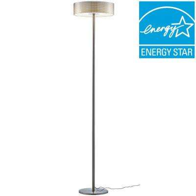 Satin Steel LED Floor Lamp