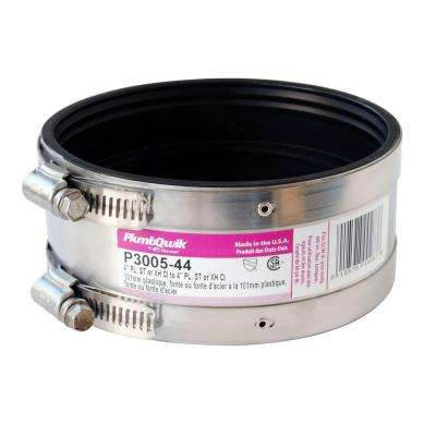 4 in. x 3 in. Sch. 40 PVC Neoprene Rubber Coupling