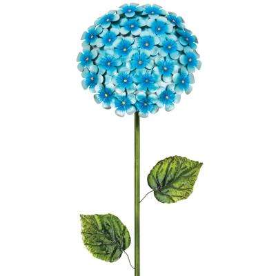 49 in. Hydrangea Flower Stake Blue