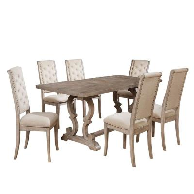Extendable Dining Room Sets Kitchen Dining Room Furniture The Home Depot