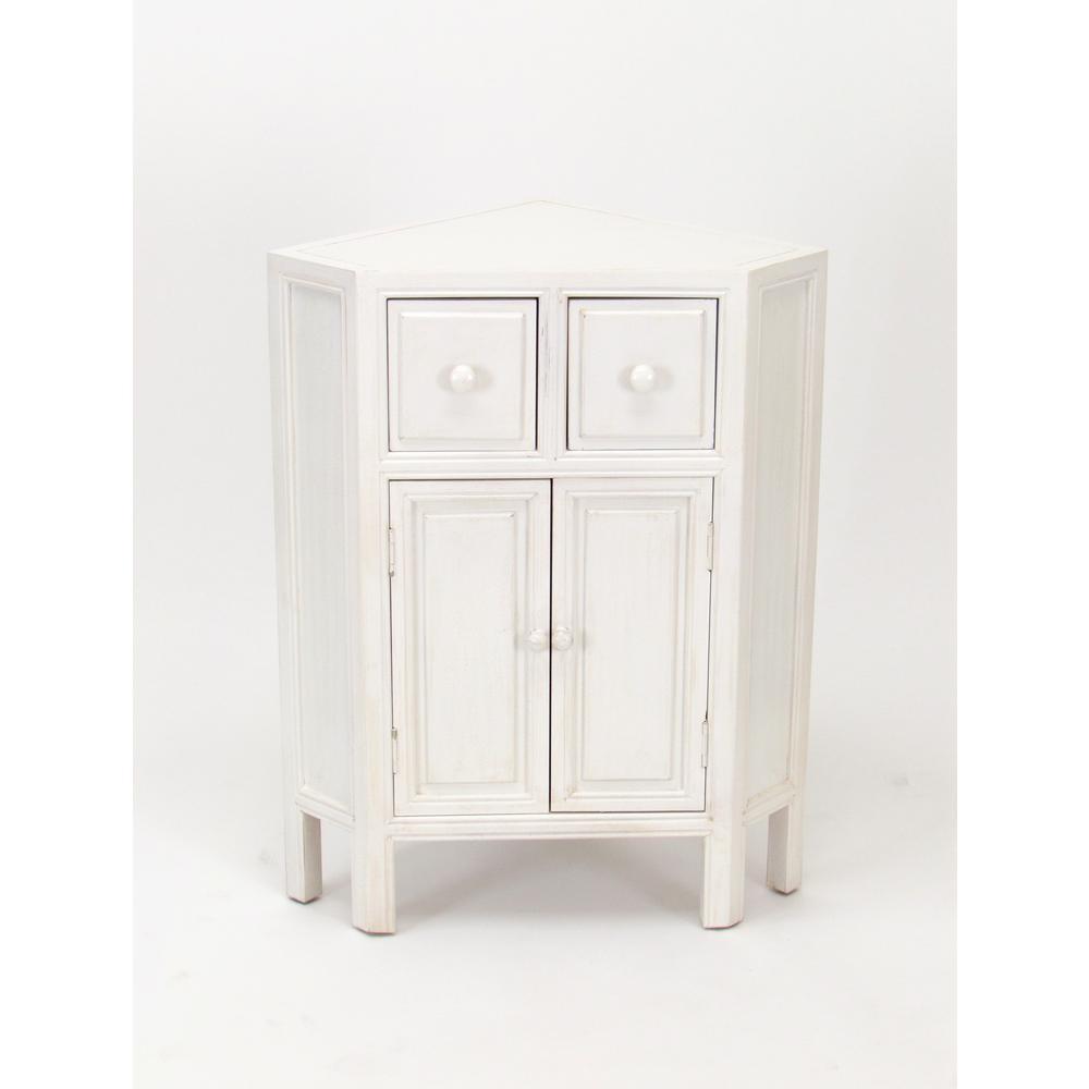 White Suchow Corner Cabinet