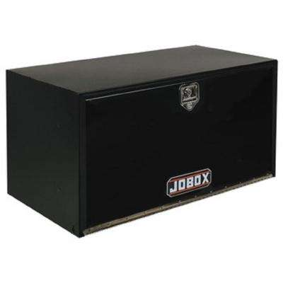 JOBOX 36 in. Long Heavy-Gauge Steel Under Bed Box in Black