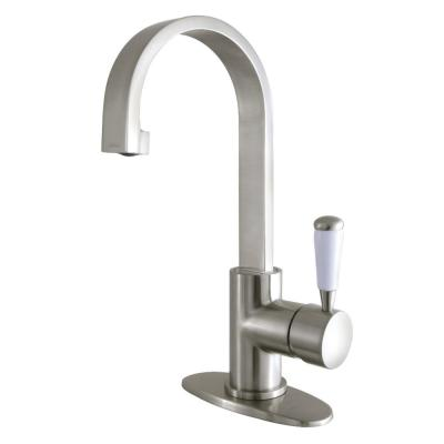 Paris Single Hole Single-Handle Bathroom Faucet in Brushed Nickel