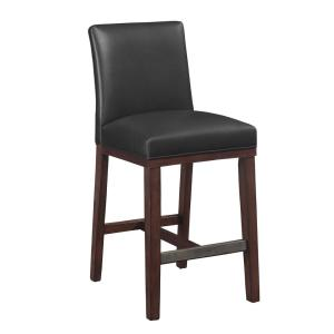 Outstanding Simone 25 In Charcoal Cushioned Leather Counter Stool 3207 Gmtry Best Dining Table And Chair Ideas Images Gmtryco