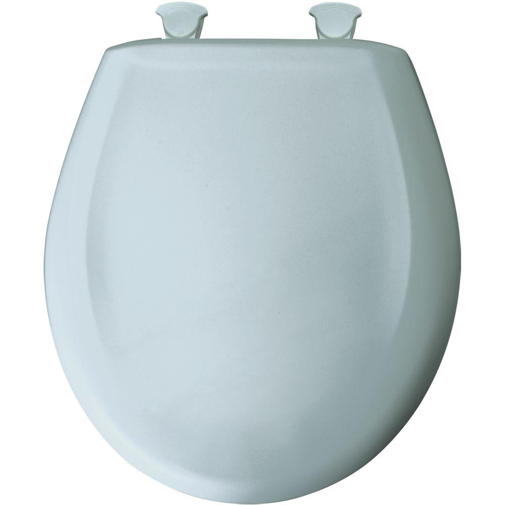 easy home toilet seat. BEMIS Round Closed Front Toilet Seat in Blue Mist 200SLOWT 174