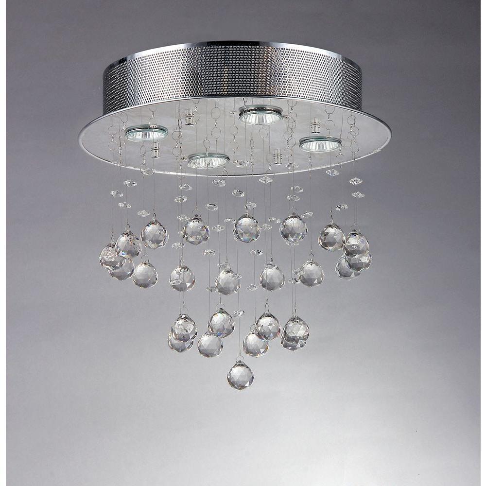 Scarlett 5-Light Crystal Chrome Ceiling Light
