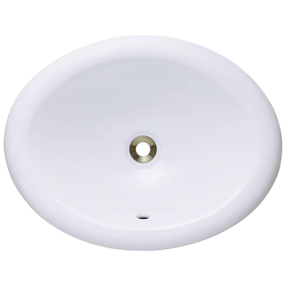Mr Direct Overmount Porcelain Bathroom Sink In White O1917