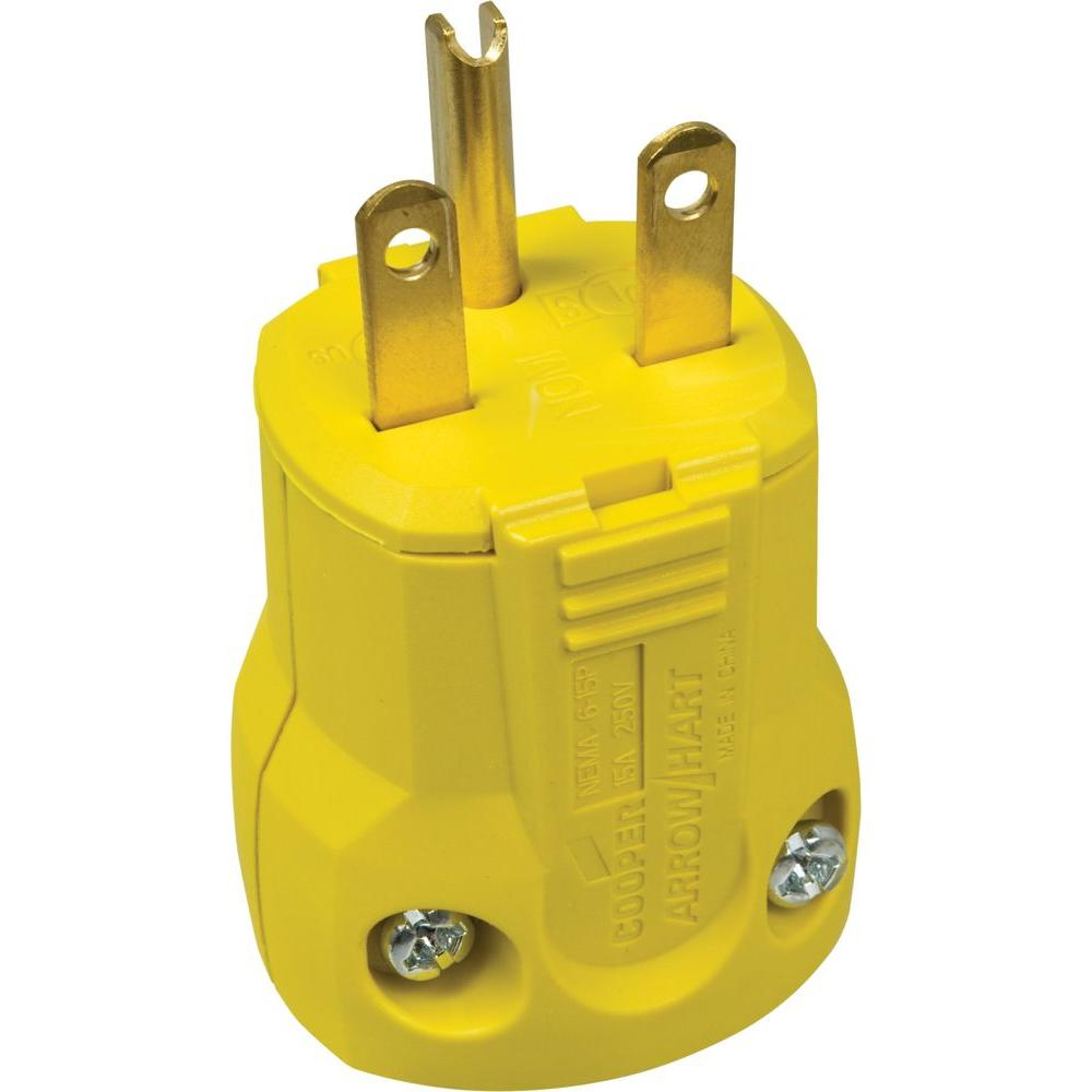 15 Amp 250-Volt 6-15 QuickGrip Plug