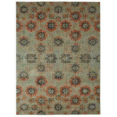 In Bloom Turquoise by Patina Vie 8 ft. x 10 ft. Area Rug