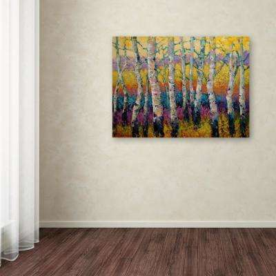 "24 in. x 32 in. ""Autumn Layers"" by Marion Rose Printed Canvas Wall Art"