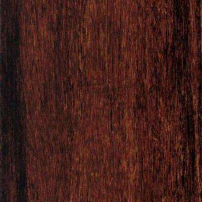 Take Home Sample - Strand Woven Cherry Sangria Solid Bamboo Flooring - 5 in. x 7 in.