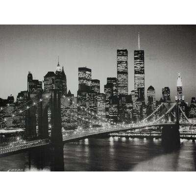 "23.5 in. x 31.5 in. ""Brooklyn Bridge "" Wall Art"