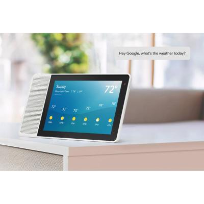 8 in. Smart Display with Google Assistant - White Front/Gray Back
